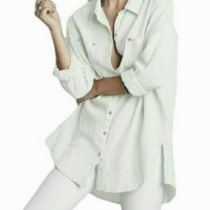 Free People Love Her Madly Oversize Crinkle Blouse